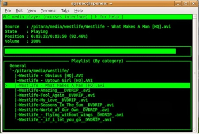play music using vlc without gui