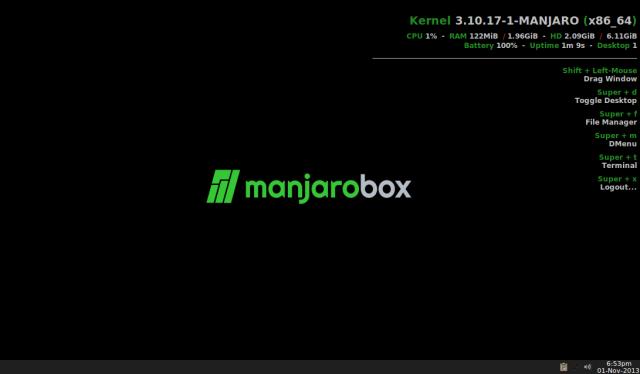 Manjaro openbox edition